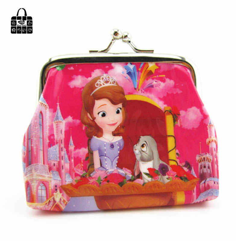 1 pcs RoseDiary lovely Snow White&SOFIA PVC cartoon girl coin purses child change purse,lady students zero wallets bag coin purses creative big eyes pu leather coin purses child girl women change purse lady zero wallets coin bag free shipping