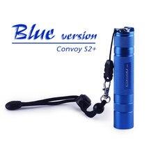 Convoi S2 + bleu Cree XML2 U2 1A EDC lampe de poche LED, torche, lanterne, auto défense, lumière de camping, lampe, pour vélo, cadeau pour les gars