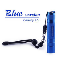 Convoy S2 + blue Cree XML2 U2 1A podręczna latarka led, latarka, latarnia, samoobrona, lampa kempingowa, lampa, na rower, prezent dla facetów