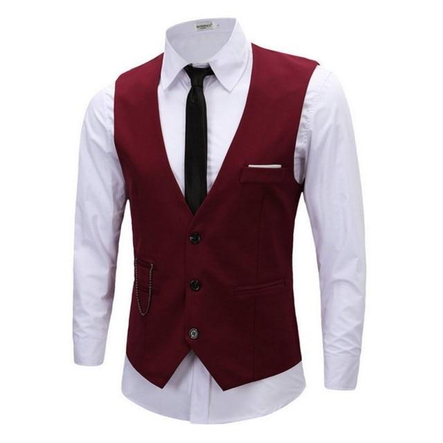 Men Vest Business Waistcoat Men Slim Fit Business Jacket Tops Formal Tuxedo Vest Suit Waistcoat Outfits