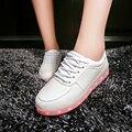 2016 обувь 11 Цветов chaussures Мужской usb Зарядки Светодиодные Фонари обувь Испуская Светящиеся Мужчины пара спорт танцы Ботинки