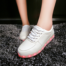 2016 LED shoes 11 Colors chaussures Unisex usb Charging Led Lights shoes Emitting Luminous Men couple sport dance Casual Shoes