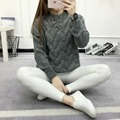 2016 Loose pullovers Sweaters Women's thicker section casual Long-sleeved Knit sweater Christmas Pull femme female slim Warm