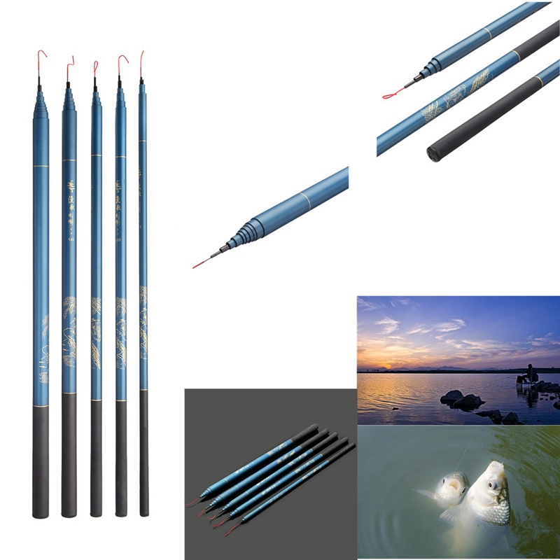 Bobing Spinning Freshwater Fishing Rod Telescopic Stream Pole Glass Fibe