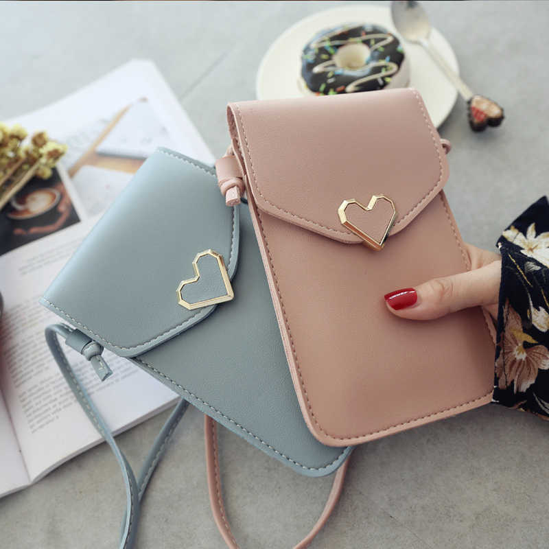 Écran tactile téléphone portable sac à main Smartphone portefeuille en cuir bandoulière sac à main femmes sac pour Iphone X Samsung S10 Huawei P20