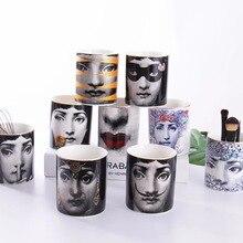 Fornasetti Candle Holders Candelabra Home Decoration Exquisite Ceramic Jar Cup Flower Arranging Pots Storage