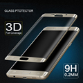 0.2mm 3D Full Cover Curved Tempered Glass Screen Protector Protective Film With Package For Samsung Galaxy S7 Edge/ S7 Edge +