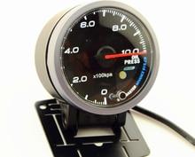 2.5 Inch 60mm Oil Pressure Gauge White&Orange Dual Led Display With Peak Warning