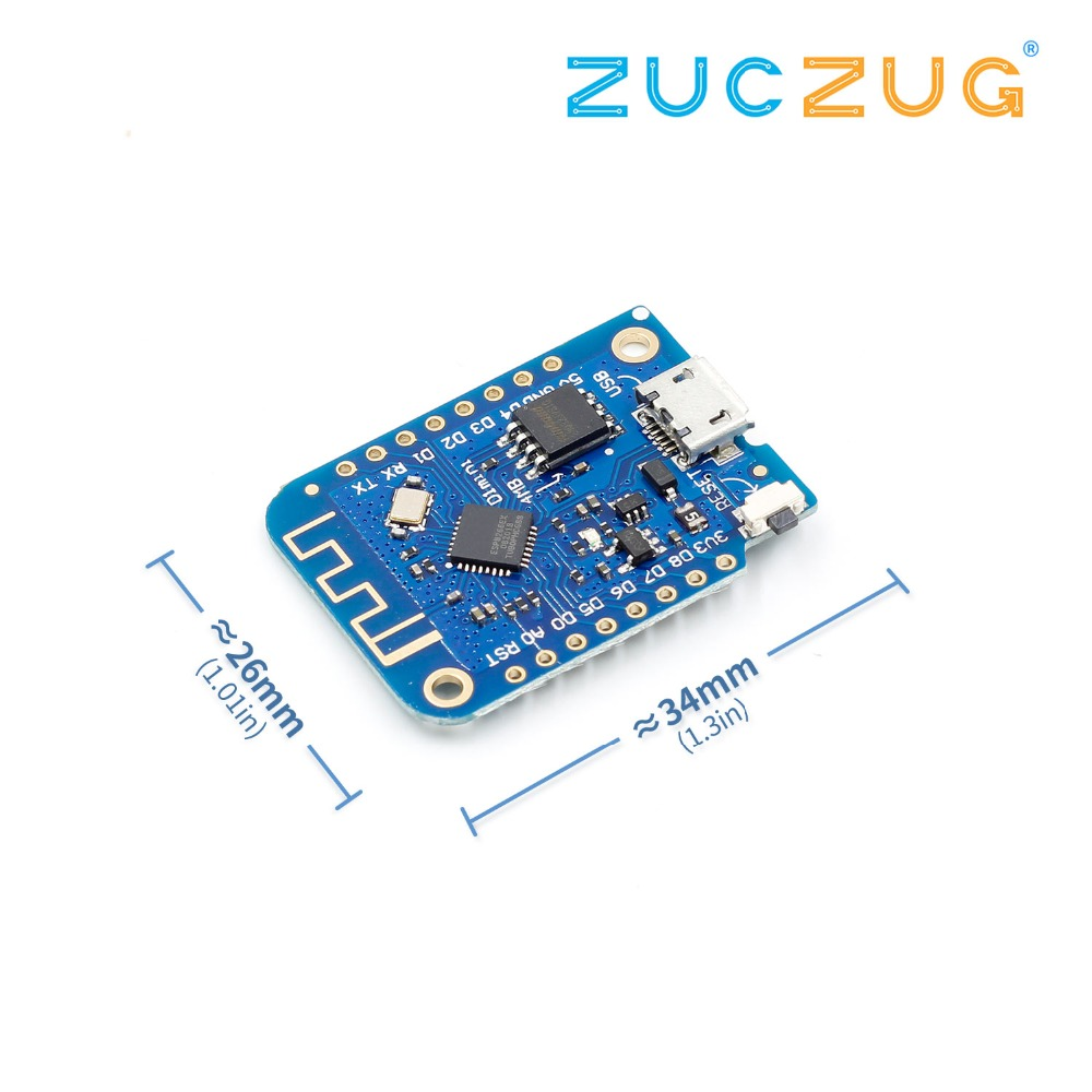 Wemos D1 Mini V3.0 3.0 Wireless WIFI Internet Of Things Development Board Based ESP8266 CH340 CH340G 4MB For Arduino Nodemcu V2