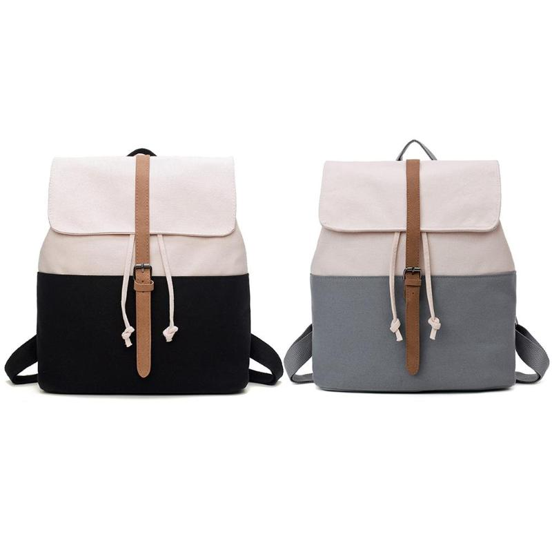 School Backpack for Teenage Girls Mochila Feminine Backpacks Women Solid Patchwork Famous Casual Bagpack Female 2018 women