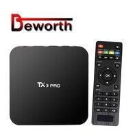 20 штук TX3 Pro Smart ТВ коробка Android 7,1 Amlogic S905W 4 ядра 64Bit 1 ГБ 8 ГБ Wi-Fi 4 К H.265 паром Media Player телеприставки