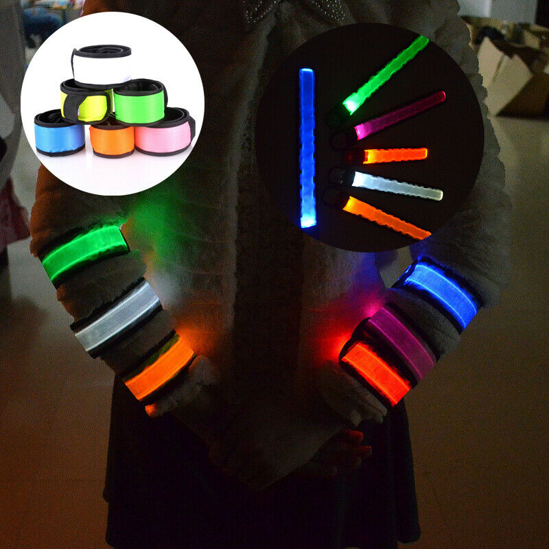 Creative Glow Party Supplies Glow Bangle Reflective LED Light Arm Armband Strap Safety Belt For Night Running Cycling Jogging