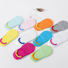 Candy Color Summer Cotton Kids Socks Slippers For Girl Boy Unisex Short Ankle Invisible Baby Socks