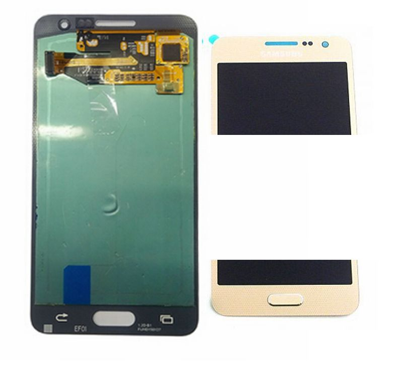 2015 Amoled Gold color Lcd Display+Touch Digitizer Glass Assembly For Samsung Galaxy A3 A3000 SM-A300F replacement screen