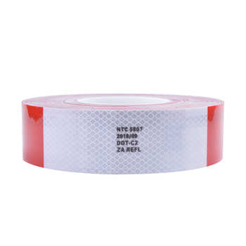 5CM*3M 50 meters NTC5807 High Visibility Reflective Sheeting Car stickers Truck Safety Warning Adhesive strips Conspicuity Tape