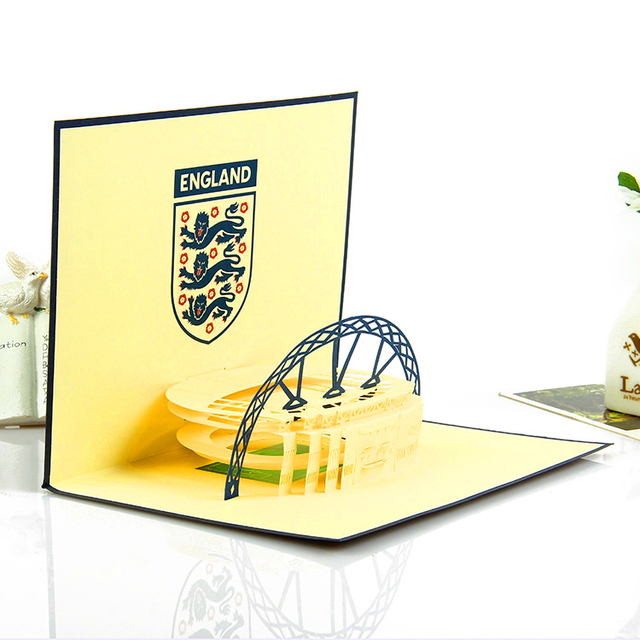 1520cm handmade pop up card 3d famous football playground card 1520cm handmade pop up card 3d famous football playground card vintage greeting card laser colourmoves