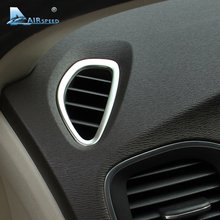 Скорости полета для Volvo V40 аксессуары для Volvo V40 2012 2013 Наклейки интерьерные Нержавеющая сталь AC Outlet кадр вентиляционное отверстие