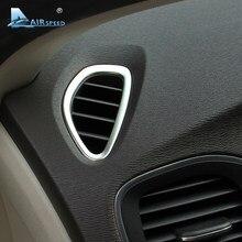 Airspeed-accesorios para Volvo V40, pegatinas para Interior de acero inoxidable, AC, marco de salida, 2012, 2013, 2014, 2015, 2016, 2017