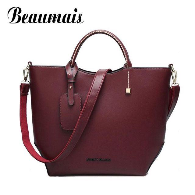 Beaumais 2017 новый стиль моды старинные женщин кожаные сумки bolsas Ведро сумка среднего размера женщины мешки плеча 3 цвета MW006