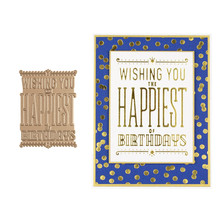 Happiest Birthday Flowers Metal  Hot Foil Plates for Scrapbooking DIY Album Embossing Card Making Decor New 2019
