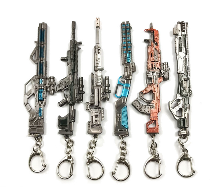 Game APEX Legends Hero Gun Model Keychain Pendant Keyring Bag Car Key Chains Accessories Gift Action Toy For Men Women