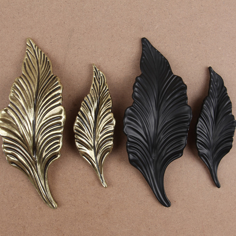 5PCS Rustic Country Leaf Dresser Knob Pull Drawer Knobs Pulls Handles Kitchen Cabinet Door Handle Furniture Ornate vintage style door handle cabinet handles dresser pulls drawer pull handles knob antique brass rustic kitchen knobs large