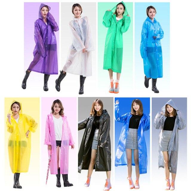 Impermeabile trasparente per le Donne di Modo Impermeabile Pioggia Poncho Cappot