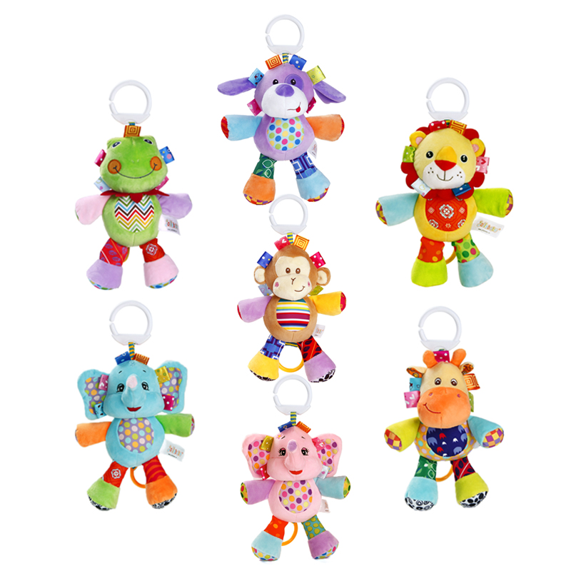 Sozzy Animal Music Bell Baby Toys for Newborns Hanging In Pushing On The Lathe Early Toy Cartoon Animals Safely Cute Music Box