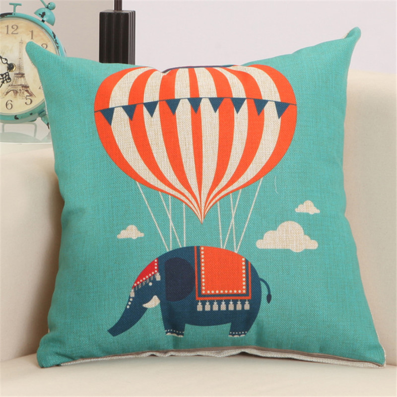 Cartoon colorful balloon printing pillowcase kindergarten children bed decoration family room sofa cushion cover