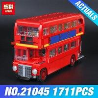 Lepin 21045 1716Pcs Genuine Technic Series The London Bus Set Building Blocks Bricks Children Educational Toys