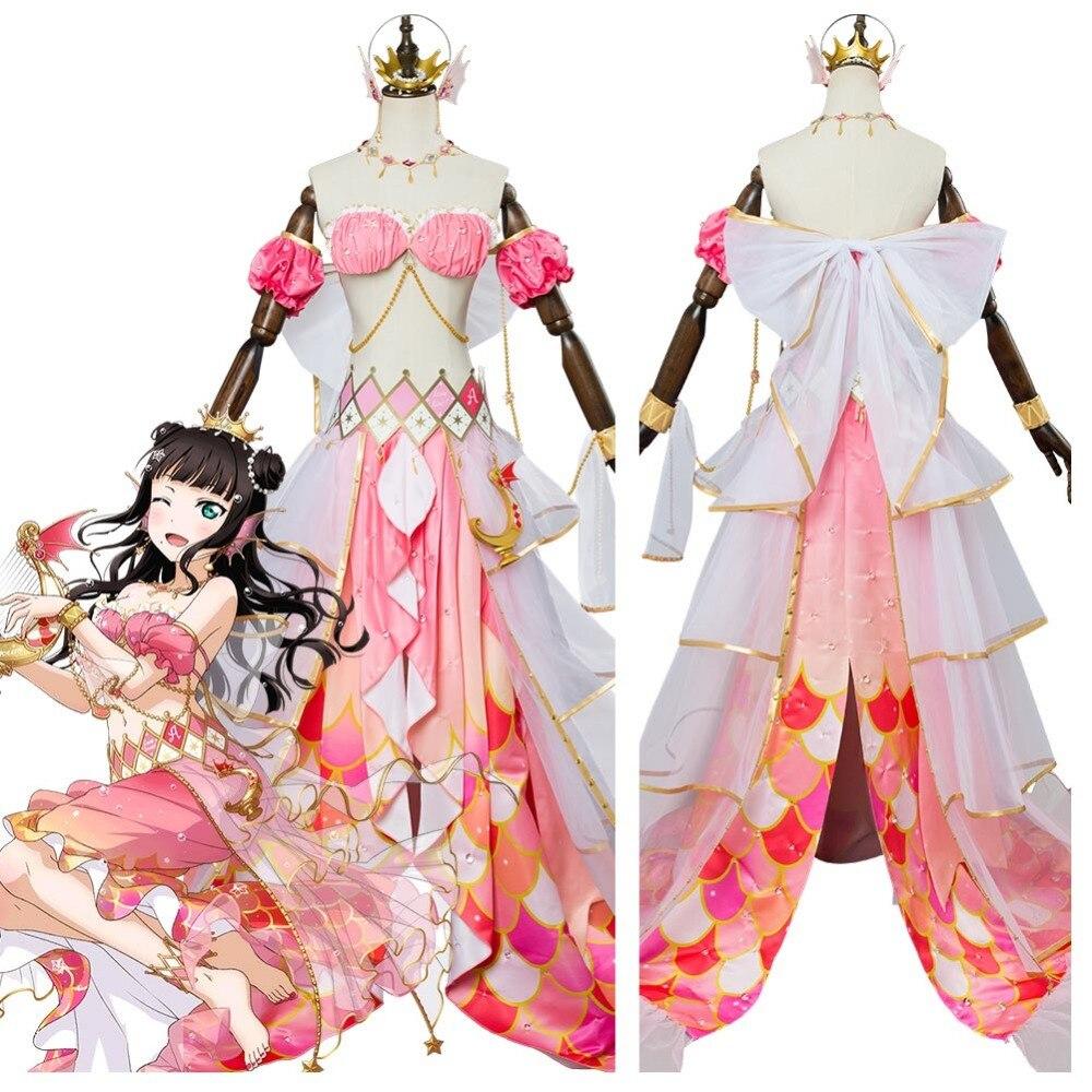 Lovelive Sunshine G's Magazine Kurosawa Dia Cosplay Mermaid Awaken Costume Halloween Carnival Cosplay Costumes
