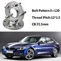 2 шт. 5x120 72.5CB центральный колесный концентратор M12 * 1 5 болты для BMW E36 E46 E60 E66 E84 E85 E86 E87 E89 E30 E81 E82 E52 E64
