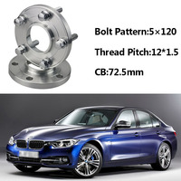 2pcs 5x120 72.5CB Centric Wheel Spacer Hubs M12*1.5 Bolts For BMW E36 E46 E60 E66 E84 E85 E86 E87 E89 E30 E81 E82 E52 E64