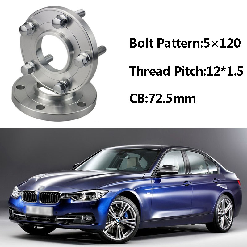 Jinke 2pcs 5x120 72.5CB Centric Wheel Spacer Hubs M12*1.5 Bolts For BMW E36 E46 E60 E66 E84 E85 E86 E87 E89 E30 E81 E82 E52 E64