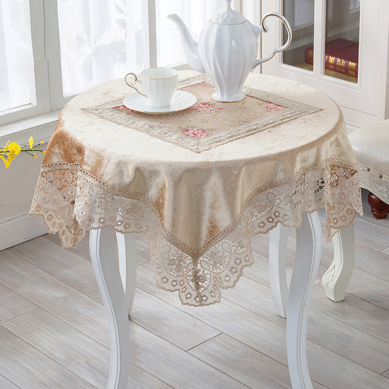 Elegant Witxcm Lace Fabric Tablecloth Square Table Cloth Floral Lace Table  Cloths For Wedding High Grade All Purpose Lace Coverin Tablecloths From  Home With ...