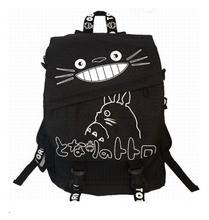 1 piece Kawaii Student Cartoon Backpack Cloth Casual Shoulder bag My Neighbor Totoro teeth Bag schoolbag
