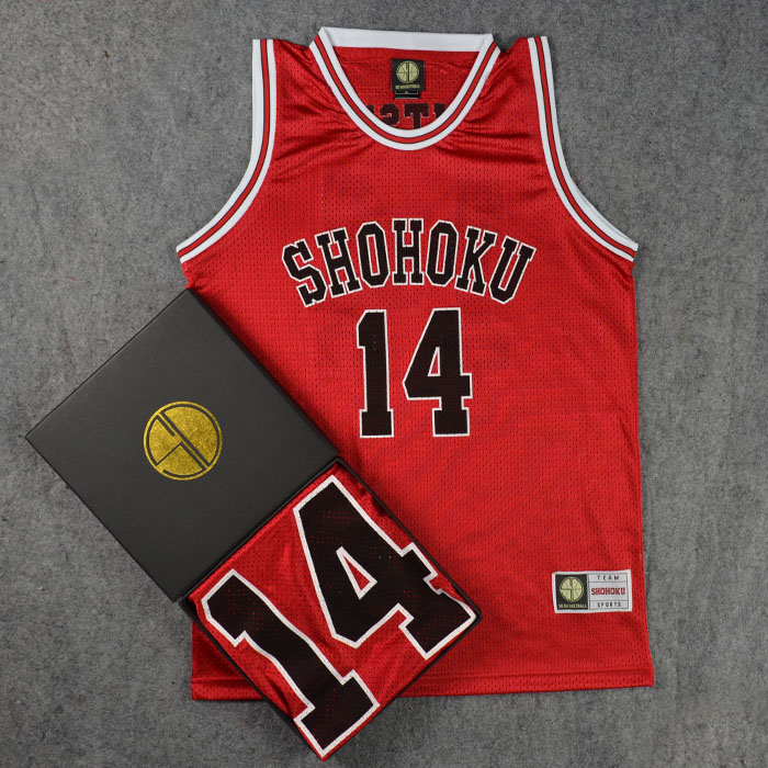 Slam Dunk SHOHOKU 14MITSUI Basketball clothing vest cosplay costume