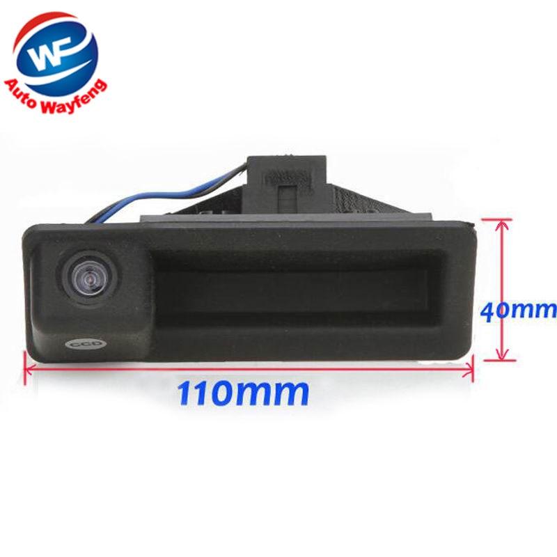 Tampilan belakang cadangan kamera parkir spion, Night Vision mobil kamera mundur cocok untuk BMW 3 seri 5 seri X5 X6 X1 E60 E61 E70 E71