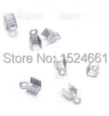 3Jewelry Findings & Components Crimp & End Beads Wholesale jewelry accessories diy embossed velvet rope clip clip 3*7mm