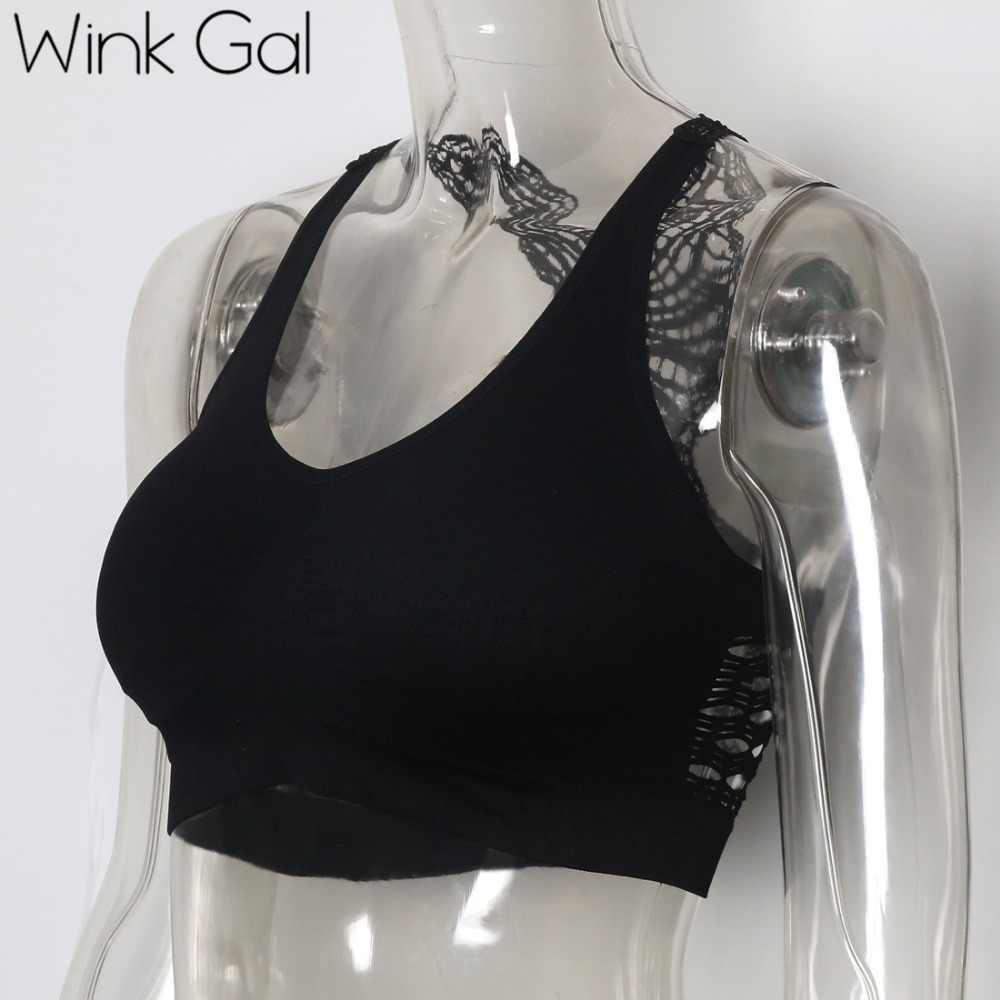 Wink Gal Новая мода шикарный бюстгальтер для женщин тонкость стрейч Летняя майка короткая slessness кроп Топ W12345