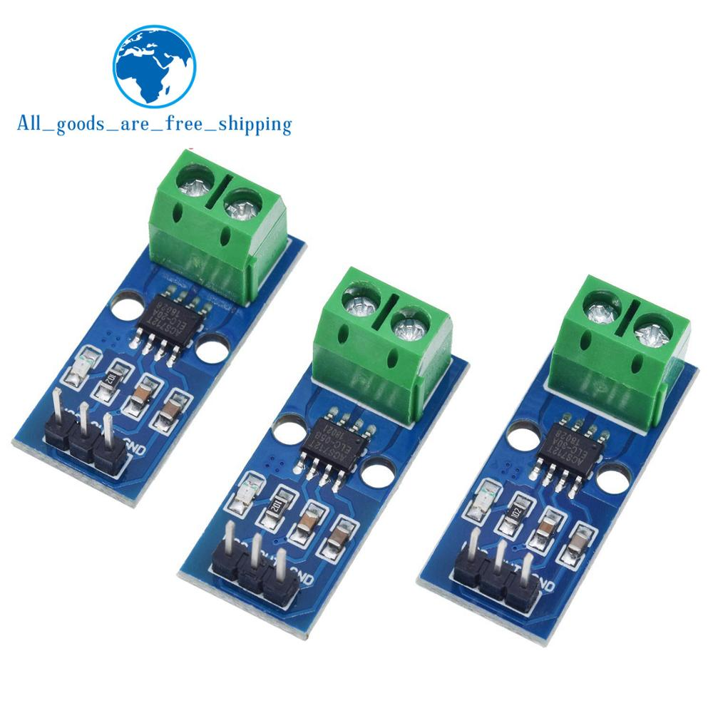 US $1 06 8% OFF|TZT Hot Sale ACS712 5A 20A 30A Range Hall Current Sensor  Module ACS712 Module For Arduino 5A 20A 30A-in Integrated Circuits from
