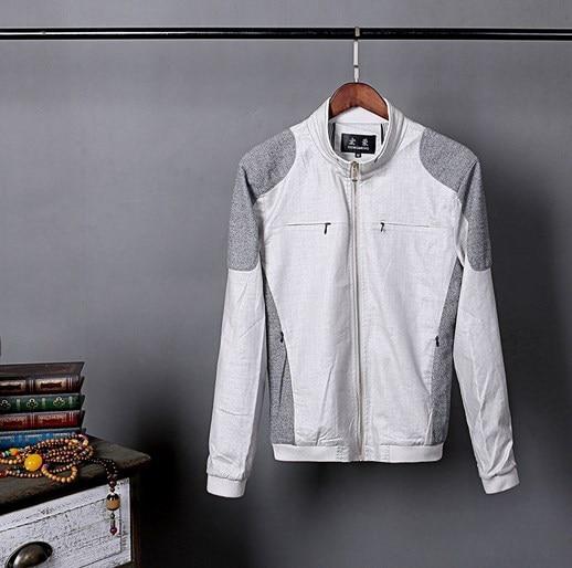 2017 Primavera Verano tendencia hombre Slim Fit Casual chaquetas abrigos de algodón de lino chaqueta hombres chaqueta abrigo ropa Plus tamaño 4XL 5XL 6XL