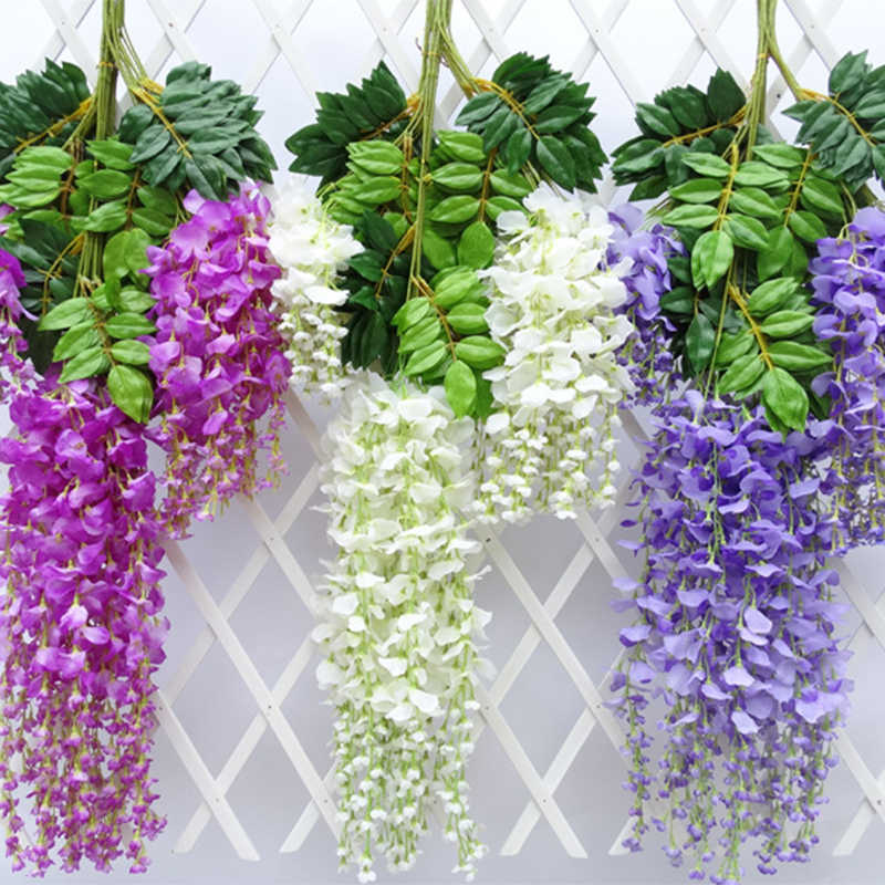 Artificial flowers Home Christmas Decoration Accessories Wedding Decor Fake Hanging Flower Garland Party Festival Garlands