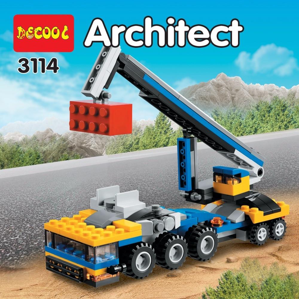 DECOOL City Creator 3 en 1 Transportador de vehículos Grúa Bloques - Juguetes de construcción - foto 4