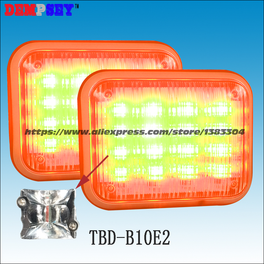 Dempsey flashing warning light Amber 48W led warning lights led surface mount strobe lights DC12 or DC24V(TBD-B10E2) a975got tbd b