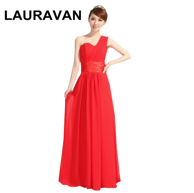 Robe De Mariee One Shoulder Red Blue Burgundy  Bridesmaid Long Bridesmaids High Fashion Dress 2018 Formal Sexy Gown Dresses