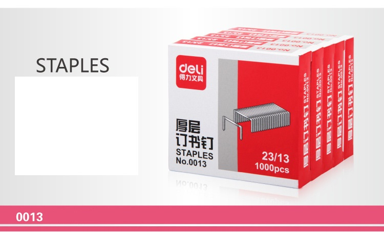 [4Y4A]  23/13 Staples Office Staples Finance Universal Staples 13 # , 1000 / Box , NO.0013