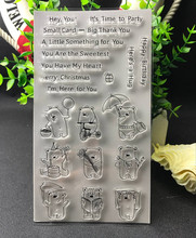 Lovely bear Transparent Clear Silicone Stamp/Seal for DIY scrapbooking/photo album Decorative clear stamp sheets R12