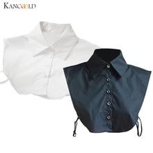 Трендовая женская рубашка с отложным воротником, профессиональная, для путешествий, OL, фальшивая, воротник, хлопок, стильная, женская форма, чокер с отворотом, Junn30