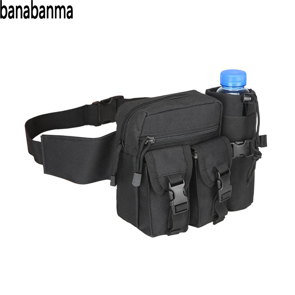 Banabanma Men Waist Bag Tactical Waist Pack Pouch with Water Bottle Holder Waterproof 800D Nylon Belt Bum Bag Waist Bag Men ZK40Banabanma Men Waist Bag Tactical Waist Pack Pouch with Water Bottle Holder Waterproof 800D Nylon Belt Bum Bag Waist Bag Men ZK40